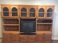 3 sectional entertainment center