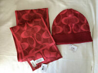 COACH scarf and hat
