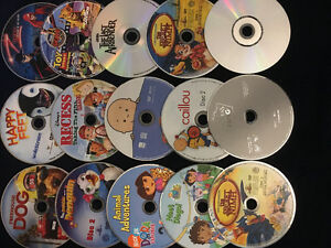 Collection of 15 kids DVDs