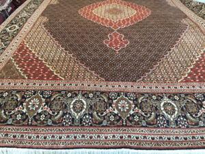 Hand knotted Wool & Silk persian Rug,Tabriz rug,Fish design