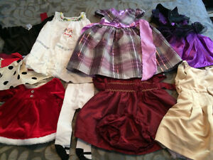 Lot of Baby girl Dreses Mostly 12-18 mos