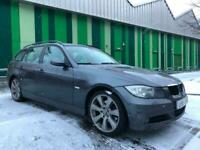 LHD LEFT HAND DRIVE BMW 318D TOURING MANUAL 2008 LEATHERS SATNAV SPORT ALLOYS