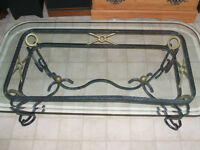 Beautiful Wrought Iron Glass Top Coffee Table (Reduced)