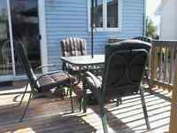 Late summer patio set sale. Asking $60.00