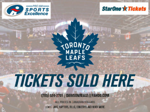 2017 Toronto Maple Leafs Single Game Tickets NOW ON SALE!!!!!!!!