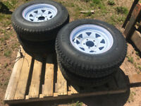 NEW 205/75 R14 TRAILER TIRES