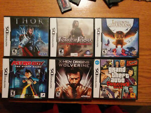 Jeux de Nintendo DS et Gameboy advance