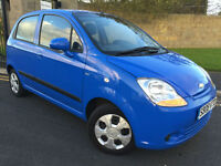 2008 08 CHEVROLET MATIZ 1.0 SE 5 DOOR IN BLUE LOW MILEAGE