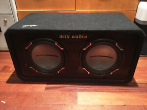 """Dual 10"""" subwoofer and ported box"""