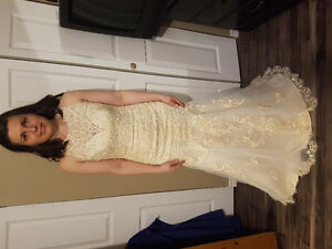 Wedding dress champagne fit and flare