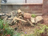 Free rocks for rockery or pond edge etc