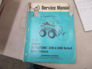 IH 3200 3300 Series B Loader Tractor Skidsteer Service Manual