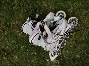 Ladies size 7 roller blades