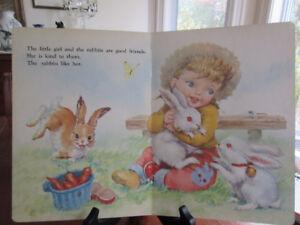 2 Vintage Board Bks - My Happy Books Playtime on farm, Teddy..