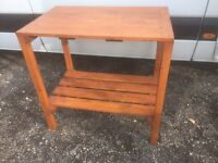 Wooden pine work bench solid and sturdy. Can deliver.