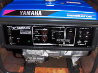 YAMAHA GENERATOR 4600 TOTAL USE 25 HOURS