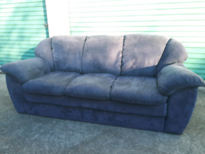 Blue MicroFiber Couch **Delivery Included