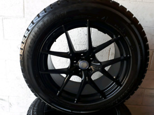 Set of 4 tires YOKOHAMA 225 /55/19 &MERCEDES rims