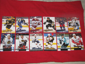 A dozen Ultra hockey rookie cards -- Bargain price!!