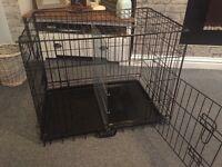 Dog crate with divider medium