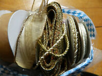 Variety of Ribbon New and Used Wire and Cord Various colours