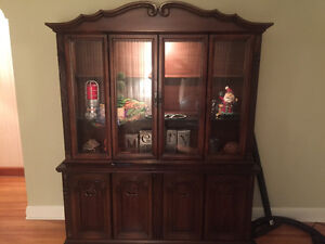 China/display cabinet with light