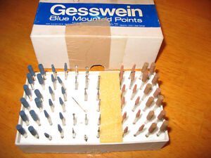 GESSWEIN BLUE & BROWN MOUNTED POINTS & GRINDERS
