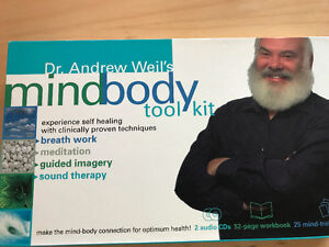 Dr. Andrew Weil's Mindbody  kit. 2 CDs, book, Mindfulness Unused