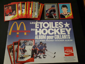 McDonalds 1982-83 NHL Hockey Stickers Complete Set & Album