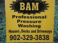 BAM PROFESSIONAL PRESSURE WASHING HOMES, GUTTERS WINDOWS,ETC