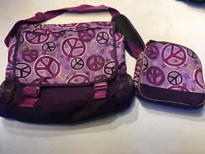 Children's Place messenger school bag and lunch bag