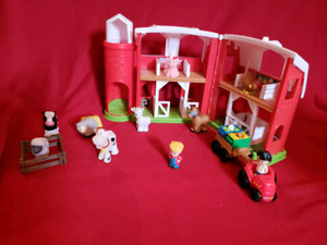 Ferme et camion de pompier Little People