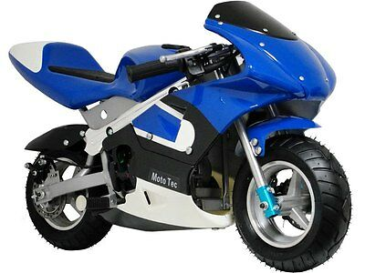 Mototec Gas Pocket Bike Air Cooled Motorcycle  Mt Gp Blue Age 13   Make Offer