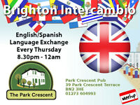 Brighton English/Spanish Language Exchange º°°º Every Thursday 8.30pm - 12am º°°º Park Crescent Pub