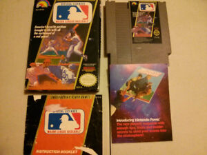 Nintendo NES video gameMajor League Baseball MLB with box