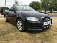 AUDI A3 1.9 TDI CONVERTIBLE BLACK 73000 MILES VERY CLEAN WELL LOOKED AFTER CAR