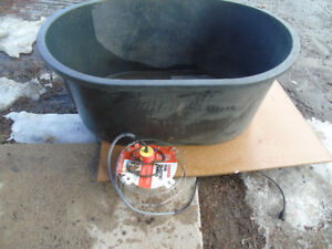 110 gallon stock tank waterer with heater
