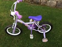 Girls bike - Apollo Daisy suits @3-5yrs