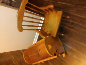 Doll Cradle and Child's Rocking Chair