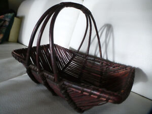 3 Large Wicker Weave Weaved Woven Storage Baskets with  Handles