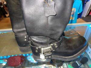 Harley boots in size 11-  recycledgear.ca