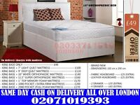 Strong King size bed in different colours...go get it...