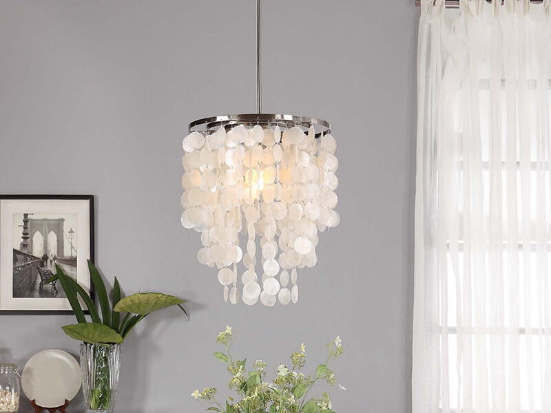 How to Make a Capiz Shell Chandelier eBay