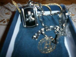 colliers avec chain pour motocycle = bijoux et neuve=