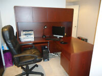 OFFICE DESK WITH HUTCH AND CHAIR