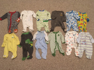 12 Newborn sleepers for boys! Excellent condition!