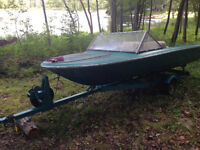 14 ft runabout with trailer
