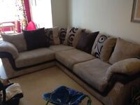 Comfy Corner sofa and twister two seater lovechair must sell very cheap quality £400 ono