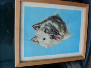 Original Josephine Crumrine Dog Painting $1000. Prince George British Columbia image 2
