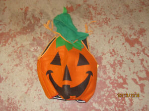 Halloween Pumpkin Costume with hat 2-4 year olds